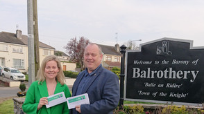 Canvassing today in my home Village of Balrothery. Youth issues, Busses and more discussed.