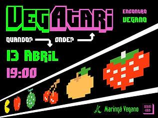 Abril/2014 - Parceria realizada entre o Maringá Vegano e o Atari Bar com opção exclusiva no cardápio do encontro