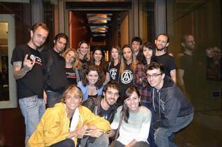 Dezembro/2013 - Foto em conjunto com o grupo de ativistas Animal Liberation Front (ALF) que resgatou cães e camundongos do Instituto Royal em 2013. Foto tirada durante o evento Mostra Animal da SVB em Curitiba