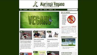 Outubro/2013 - Primeiro site do Maringá Vegano, que contava com um blog de notícias e o guia vegano da cidade