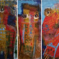 Quand on est trois ca va mieux oeuvre de l'artiste contemporaine Susanne Tanguay
