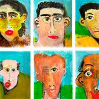huit personnages pas toujours sage artiste peintre contemporaine Susanne Tanguay