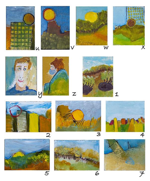 Petits-formats-aimantés-uniques-oeuvre-de-Susanne-Tanguay-peintre