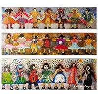 ames soeurs 2006 triptyque de l'artiste Susanne Tanguay