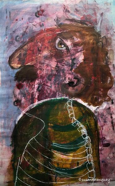 Susanne-Tanguay-artiste-peintre-oeuvre sur papier