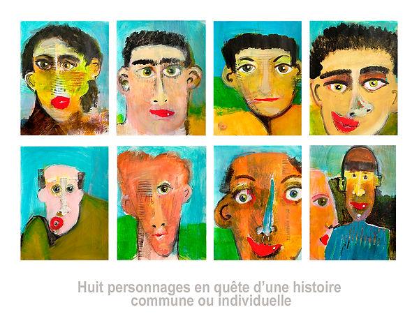 Oeuvres-de-Susanne-Tanguay-artiste-8-personnages-en-quête-d-une-histoire