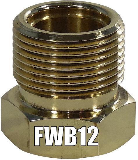 FWB12 BRASS WELD ON NUT #12