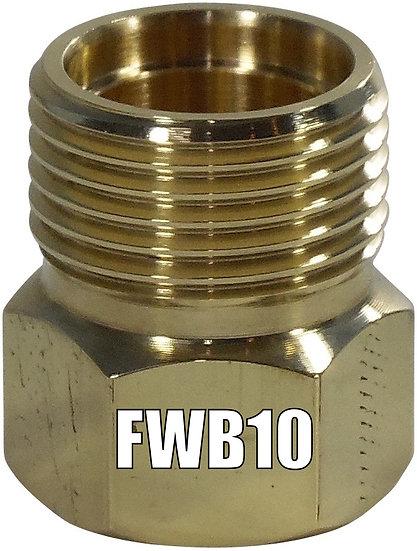 FWB10 BRASS WELD ON NUT #10