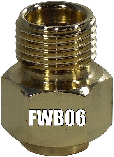 FWB06 BRASS WELD ON NUT #6