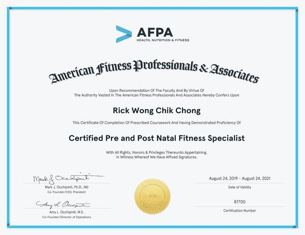 Image of Rick's Pre-Post Natal Fitness Specialist Certification
