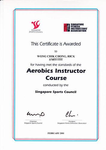 singapore-aerobics-instructor-certificat