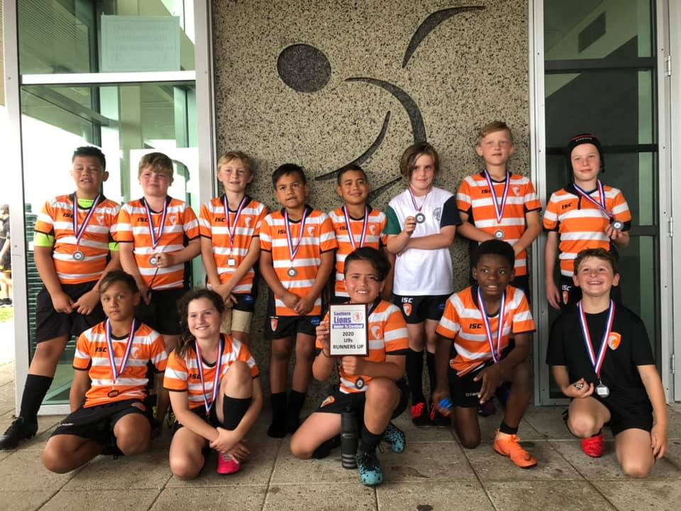 2020 U9S RUNNERS UP SOUTHERN LIONS 7S