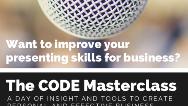 The CODE Masterclass Improving presentation skills for business (1)