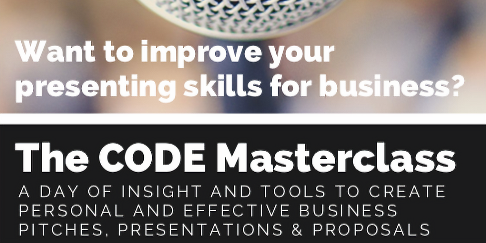 The CODE Masterclass Improving presentation skills for business