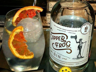 Copper Frog Small Batch Gin.