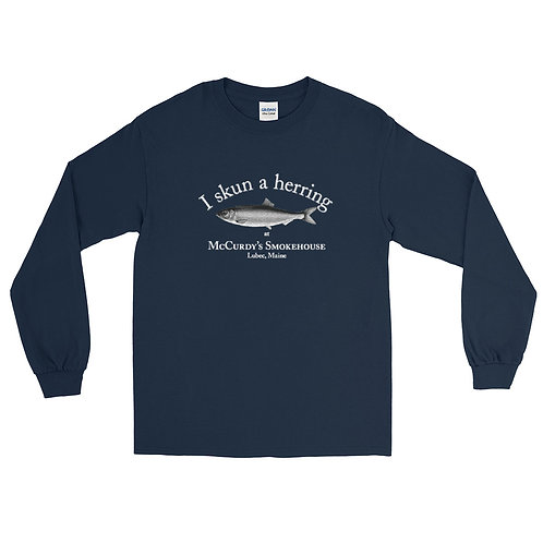 """""""I skun a herring"""" men's long sleeve shirt"""