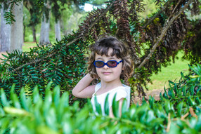 Encourage your child to wear sunglasses when playing outdoors.