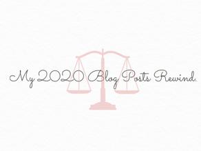 My 2020 Blog Posts Rewind.