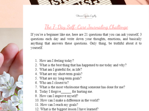 The 7 Day Self-Care Journaling Challenge!