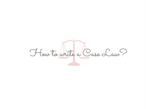 How to write a case law?