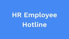 HR employee hotline