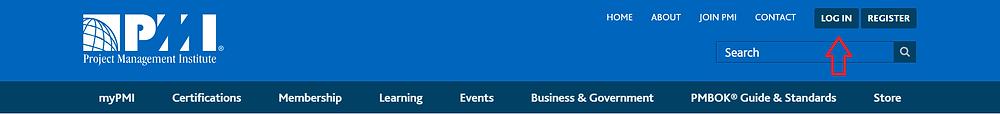 PMI Website navigation banner image