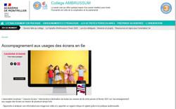 Intervention collège Ambrussum
