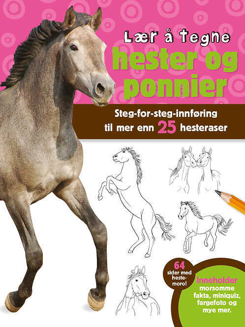 Lær å tegne hester og ponnier