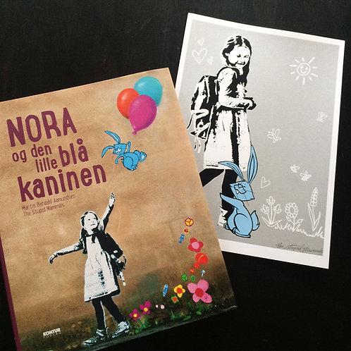 Nora og den lille blå kaninen + lanseringstrykk