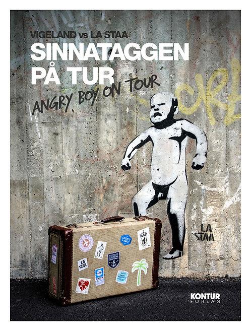 Sinnataggen på tur: En street art-postkortbok