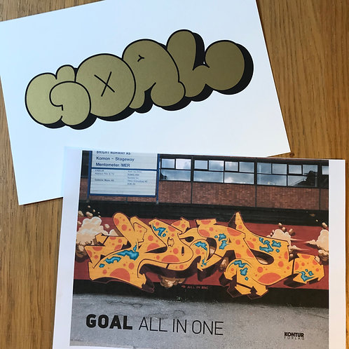 GOAL- ALL IN ONE with/ Goal Throw Up - Gold Edition limited print