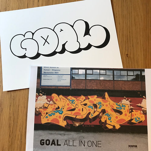 GOAL- ALL IN ONE - White edition print