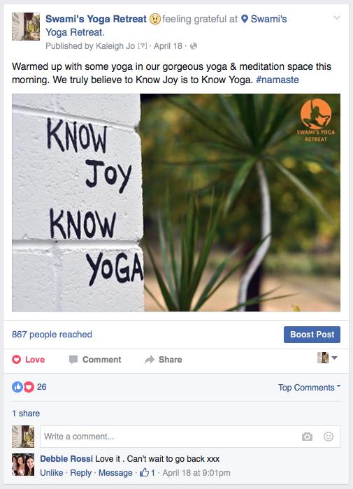 Facebook - Swami's Yoga Retreat