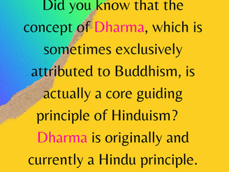 Dharma is an integral Hindu concept