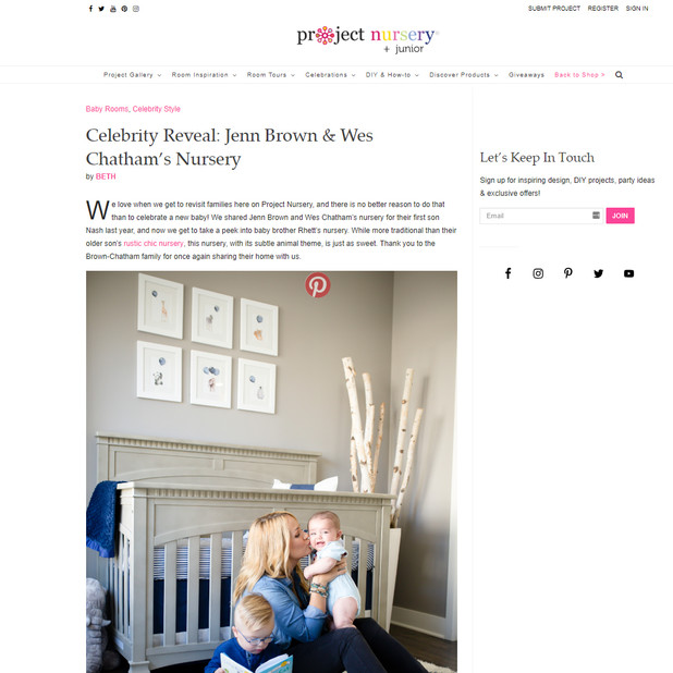 Project Nursery Celebrity Reveal: Jenn Brown & Wes Chatham's Nursery - Kinda Arzon Photography