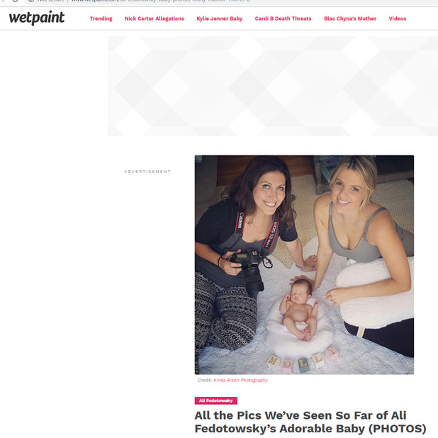 Wetpaint All the Pics We've Seen So Far of Ali Fedotowsky's Adorable Baby Kinda Arzon Photography