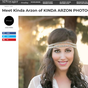 SDVoyager interview with Kinda Arzon Photography