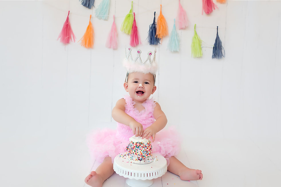 Baby's first year milstone session and cake smash