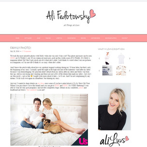 Former Bachelorette Ali Fedotowski welcomes baby Molly  blogs about her photo session with Kinda Arzon Photography Celeberity Photographer