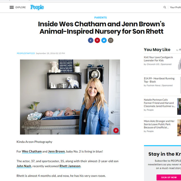 People Magazine Inside Wes Chatham and Jenn Brown's Animal-Inspired Nursery for Son Rhett - Kinda Arzon Photography