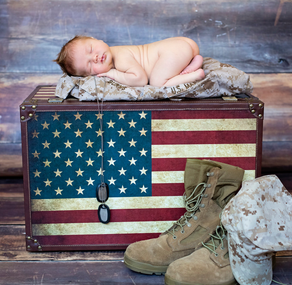 Militarty Newborn Photography |  Kinda Arzon Photography San Diego