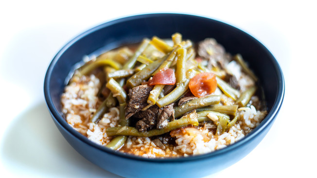 Green beans with Meat - Fasolia / Loubieh