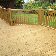 Decking and patio area