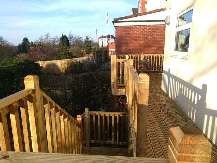 Timber decking and stairs