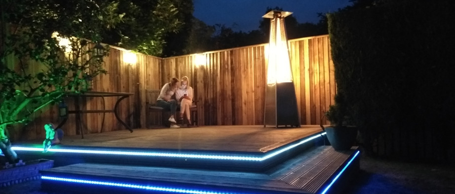 Timber decking with lighting