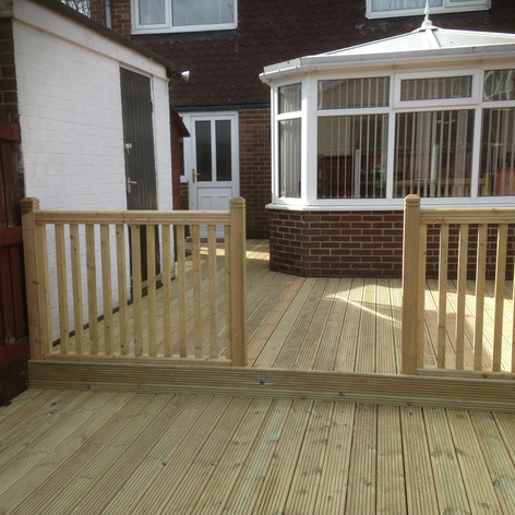 Timber patio area