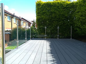 Decking with Glass Balustrade