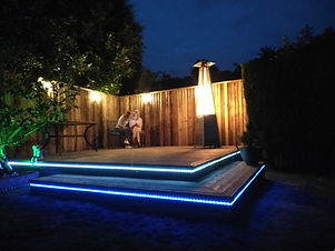 Timber decking with lights