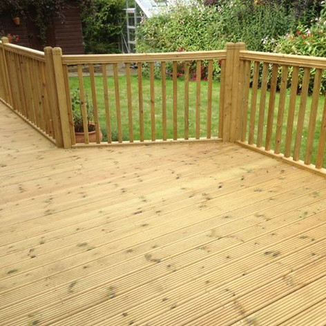 Large decking area