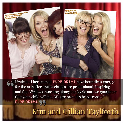 Lizzie Frances, Kim Taylforth an GillianTaylforth in the nationwide tour of Girls Night